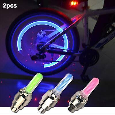 2x Bicycle LED Lamp Bike Cycling Wheel Tire Tyre Valve Dust Cap Spoke LED Light