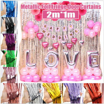 Foil Door Shiny Fringe Curtain Wall Room Decoration Holographic Birthday Party