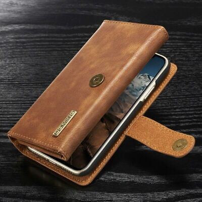 For Samsung Galaxy Note 10 Plus S10 Genuine Leather Removable Wallet Case Cover