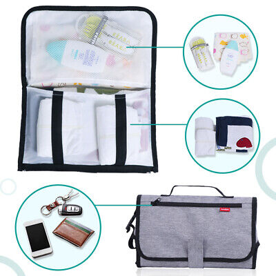 Nappy Handbag Toddler Hot Portable Bag Mat Diaper Bag Infant Baby Change Clutch