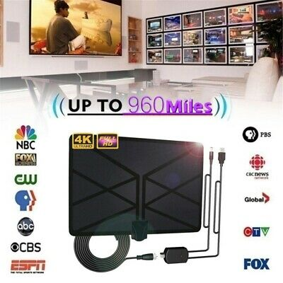 960 Mile Range Antenna TV Digital HD HDTV 1080P Skywire 4K Antena Indoor Aerial.