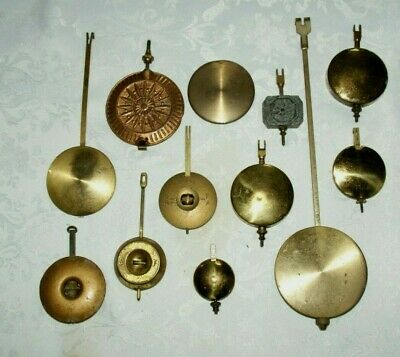 Collection Of Antique/Vintage Clock Pendulums/Bobs