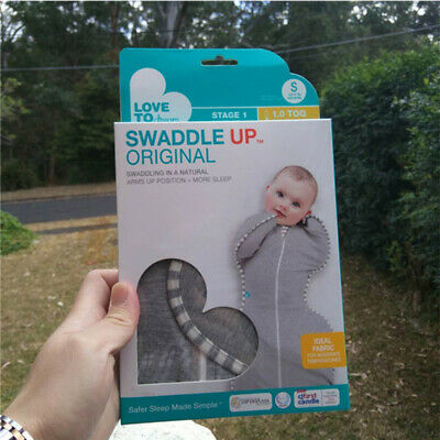 Love To Dream Swaddle UP, Better Sleep to Baby, Gray, Small, 7-13lbs