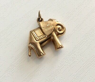Lovely Vintage Unusual Style 9CT Gold Elephant Charm or Pendant