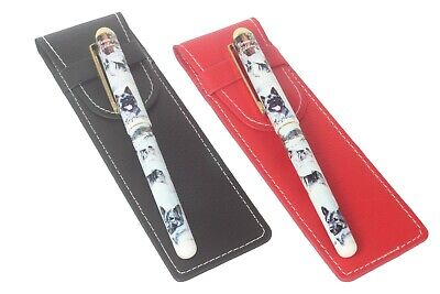 Norwegian Elkhound Dog Pen with a Choice of Red or Black Pen Case Perfect Gift