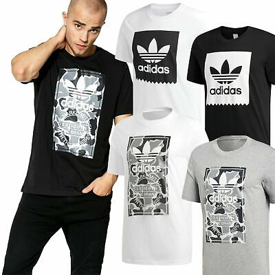 ✅Adidas Originals Camo & Solid Serrated Trefoil Men's Gym Sports T shirt RRP£20✅