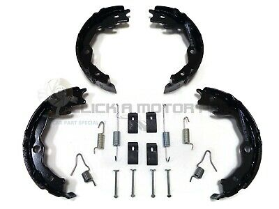 For ROVER 75 REAR HANDBRAKE SHOES /& FITTING KIT CLIPS SPRINGS NEW SET