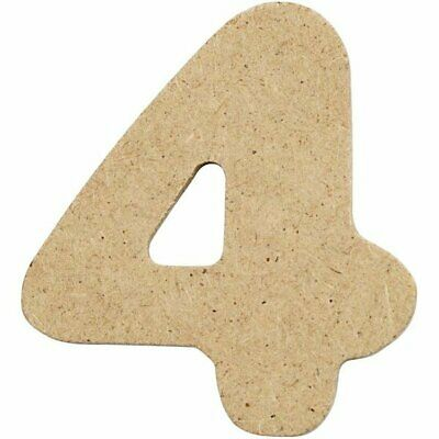 4cm MDF Number 4 (Pack of 10)