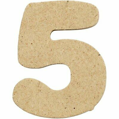 4cm MDF Number 5 (Pack of 10)