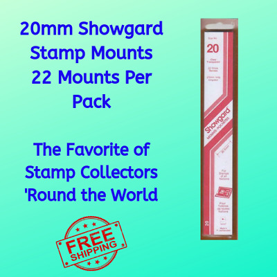20 mm Showgard Stamp Mount Strips Clear 22 Mounts In Pack Stamp Collectors