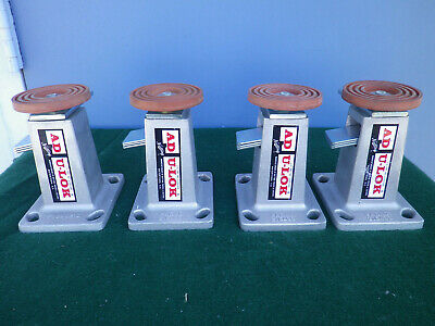 Lot of 4 Nutting AD U-LOK Adjustible Floor Lock