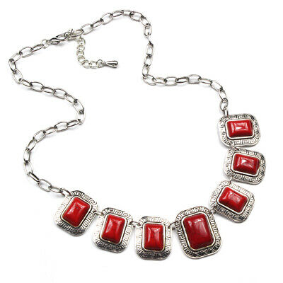 FREE Charm Gemstone Turquoise 925 Silver Plated Men Womens Vintage Necklaces