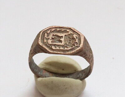 Ancient Roman Bronze Ring Very Rare