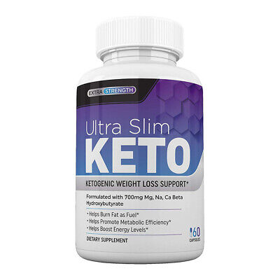 Ultra Slim Keto Pills - Weight Loss, Burn Fat Fast, BHB Salts, Ketosis