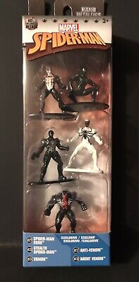 5 PACK Marvel Spider-Man Figurines Cake Toppers NANO METALFIGS