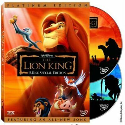 The Lion King (DVD, 2-Disc Platinum Set - 2003) New w/ Slipcover FREE Shipping