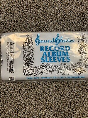 BAGS UNLIMITED SLP2 12 3/4 X 12/ 3/4  poly album sleeves 100 count