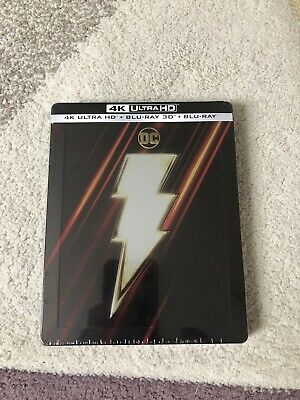Shazam Steelbook 4K UHD+3D+2D Blu Ray / Import / WORLDWIDE SHIPPING