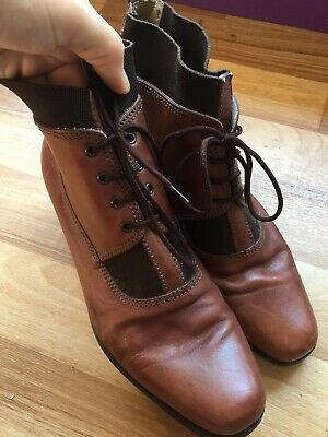 Catleia Brazilian Leather Brown Shoes/boots Ankle Height Retro/vintage