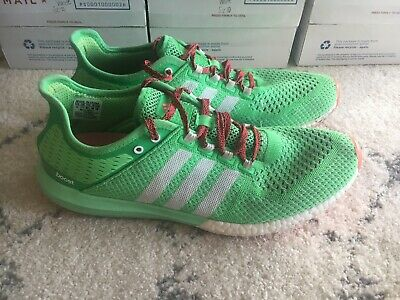 ADIDAS CLIMACHILL COSMIC Boost Green White Red Pink Size 12