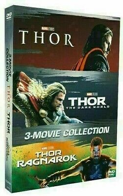 Thor 1-3 Como Pack (DVD, 2018 - 3 Movie Collection) New & Sealed FREE Shipping