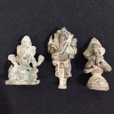 South Asia Cambodian Khmer Bronze Elephant Buddha Statues Figurines Collectible