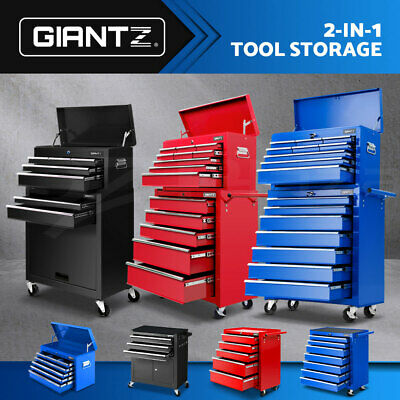 Giantz 3-16 Drawers Tool Box Chest Cabinet Trolley Toolbox Garage Storage Boxes