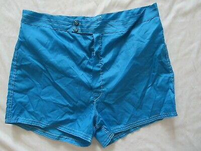 """Vtg 60s Catalina Mike Doyle Surf Board Shorts Swimming Trunks 38"""" Waist Blue!"""
