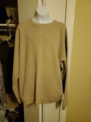 Tommy Bahama  crew neck Sweater Lt. Brown Mens XL/exc cond
