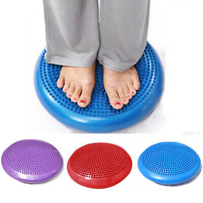 Yoga Stability Balance Air Cushion Pad Board Disc Gym Exercise Wobble Ankle Knee