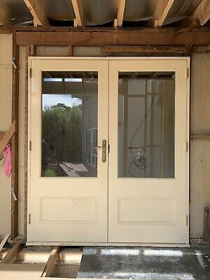French doors Solid Timber External - VERY RARE.