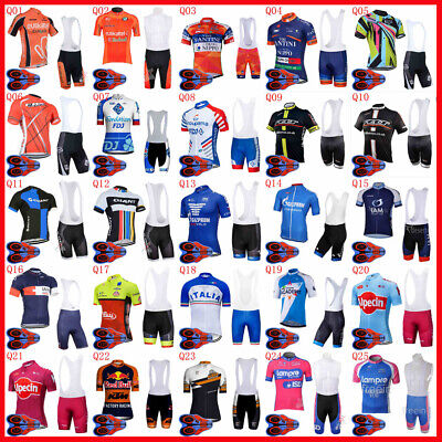Summer mens Cycling Short Sleeves jersey bib shorts sets riding clothing Q82210