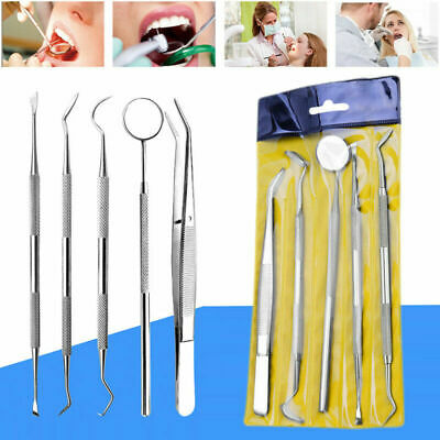 Stainless Steel Dental Set Dentist Teeth Kits Oral Clean Probe Tweezers Tool