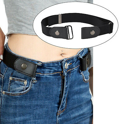 Adjustable Women Men Unisex Buckle Free Stretchy Elastic Waist Belt Waistband