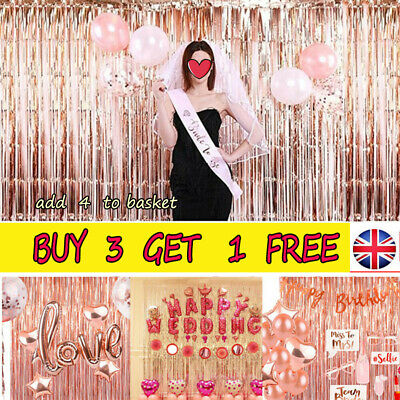 2M-3M Foil Fringe Tinsel Shimmer Curtain Birthday Wedding Wall Door Room DecorNA