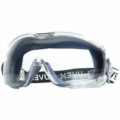 Uvex Stealth OTG Safety Goggles with Anti-Fog/Anti-Scratch Coating & Clear Lens
