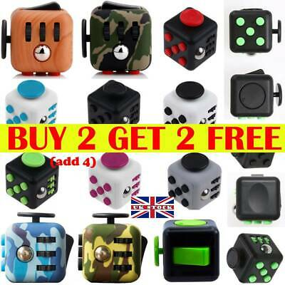 3D Fidget Hand Finger Spinner Cube Focus Stress Reliever Toys For Kids Adults EA