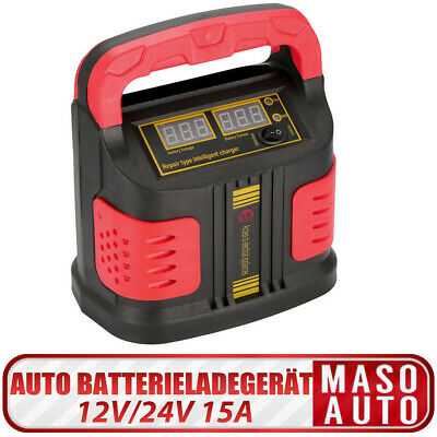 Smart Car Battery Charger 12V 24V Lead Acid Pulse Repair Jump Starter Power Bank