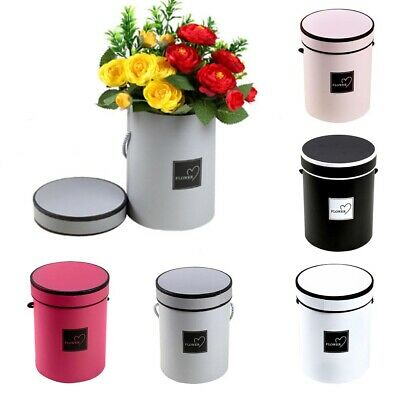 Flower Bouquet hand Boxes Round Living Vases Florist Box Plant Boxes packaging
