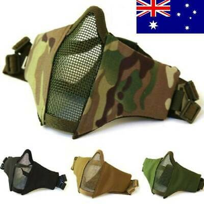 HI-Q Tactical Hunting Protective Mesh Half Face Mask With Ear Protection Airsoft