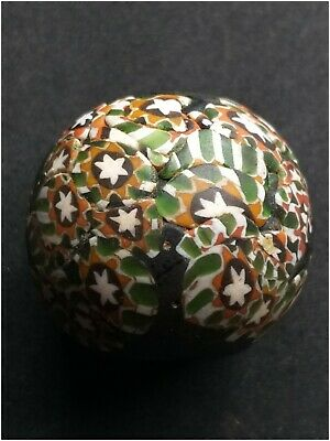 Absgr.wonderfull old mosaic glass bead