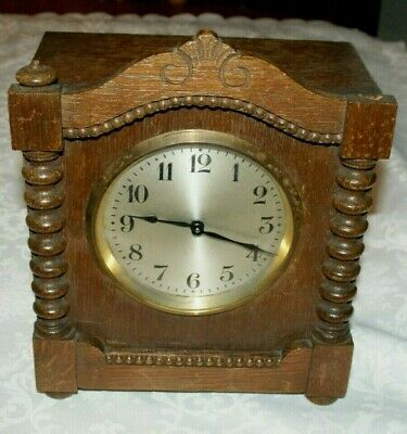 Antique Oak Cased HAC Mantel Clock, Spares/Repair