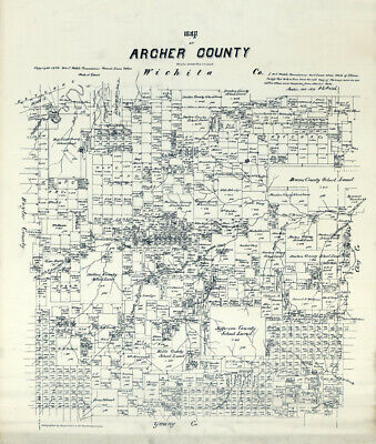 1879 Farm Line Map of Polk County Texas