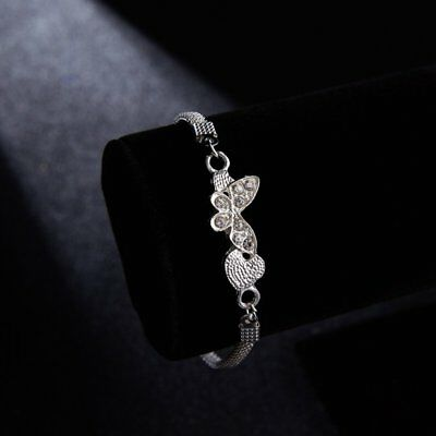 Chic Butterfly Silver Plated Bracelets Bangle Chain Jewelry Christmas Charm Gift