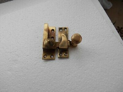Reclaimed  Salvaged Antique Brass Beehive Style Sash Window Swing Arm Fastener