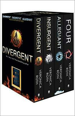 Divergent Series Box Set books 1-4 plus World of Divergent by Veronica Roth Mixe