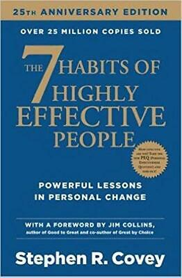 7 Habits Of Highly Effective People by Stephen R. Covey Paperback NEW Book