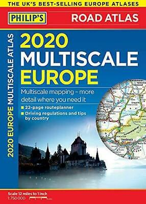 2020 Philip's Multiscale Europe by Philip's Maps Spiral bound NEW Book