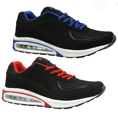 Mens Running Trainers Boys Gym Walking Shock Absorbing Air Sports Shoes Size