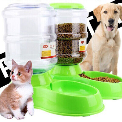 New Pet Cat Dog Dry Food And Water Drinking Dispenser Automatic Feeding Bowl